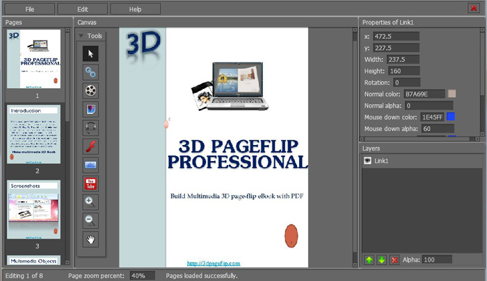 3d Pageflip Released 3d Page Flip Book Software With