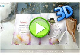 Fresh Template for 3D page flip eBook