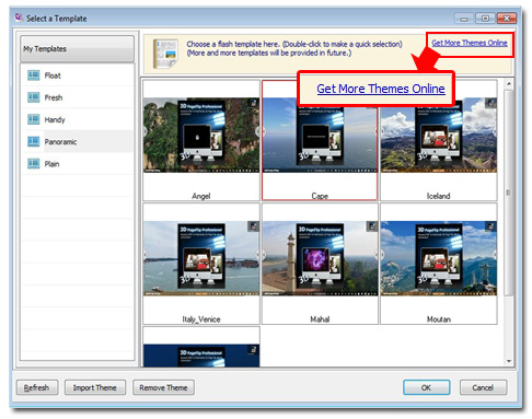 where to download new theme for 3d ebook quickly