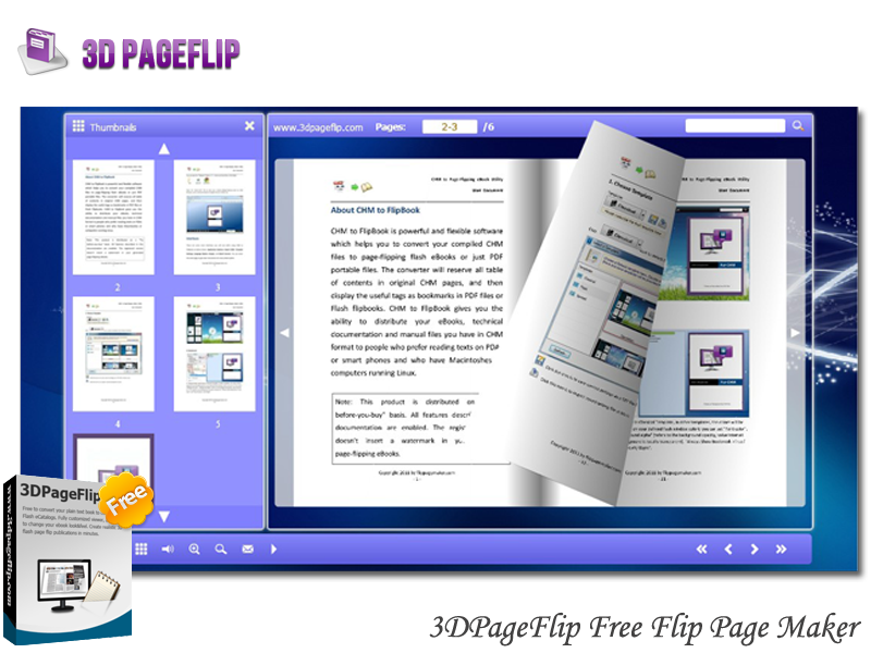 Windows 7 3DPageFlip Free Flip Page Maker 1.0 full