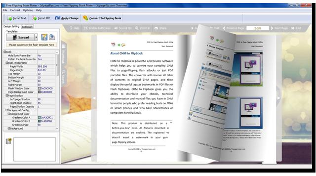 pdf to flash flip book free