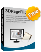 Free 3DPageFlip PDF to Flash eBook Creator