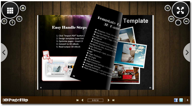 3DPageFlip Free Page Flip Software