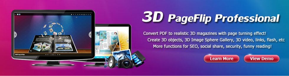 3D Page Turning Software, convert PDF to 3D page flip Book