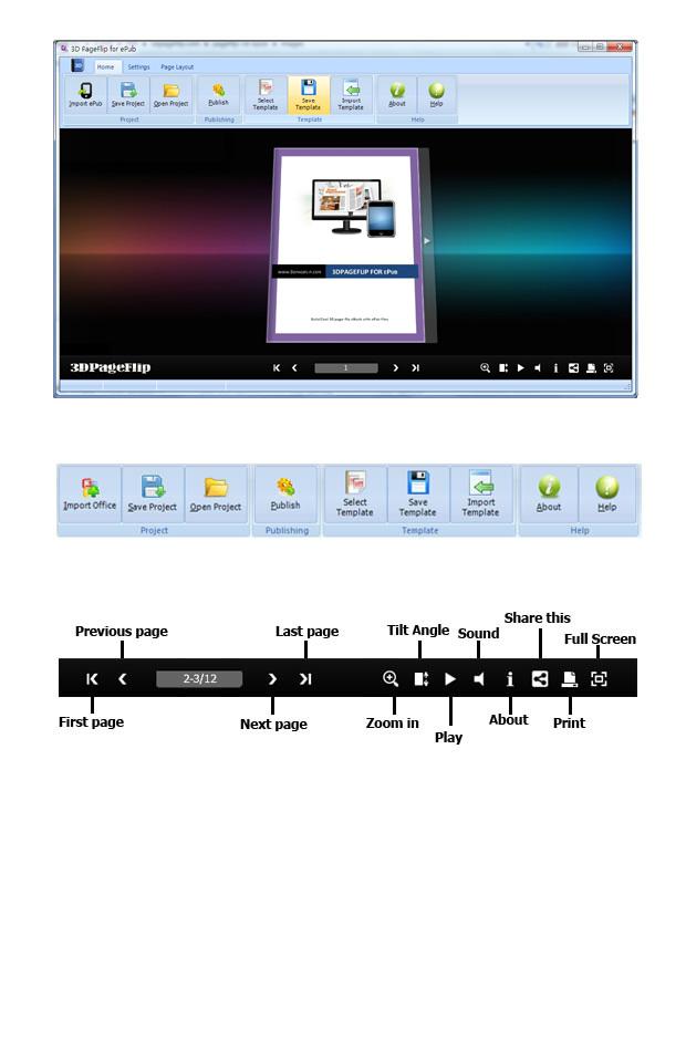3DPageFlip for ePub screen shot