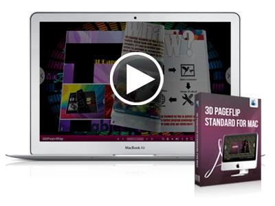 Mac Flash Flip Book Maker, Turn PDF to 3D Flash Flipping Book On Mac!