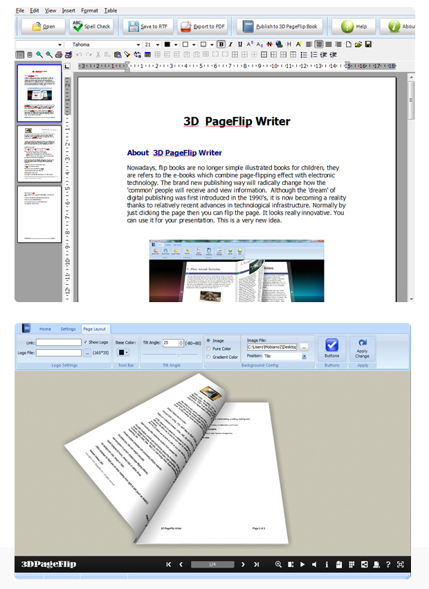 Click to view 3DPageFlip Writer 1.1 screenshot