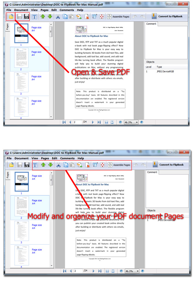 3D PageFlip PDF Editor, organize, edit, annotate, secure