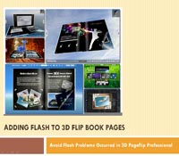 Adding Flash to 3D Page Flip Book Avoid Flash Problems