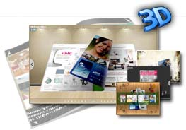 3D PageFlip Free Exhibit Mode Templates 1.0