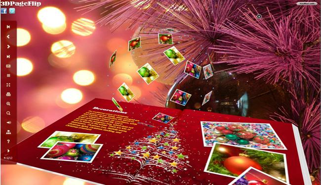 Windows 7 Christmas Style for Flipbook 3D Theme 1.0 full