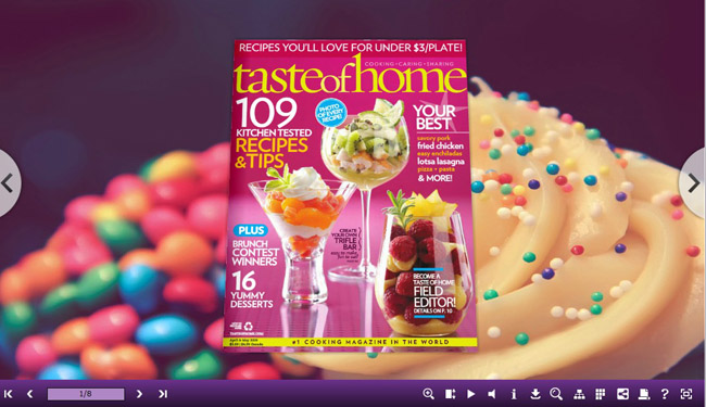 3D Page Flip Book Dessert Templates 1.0 full