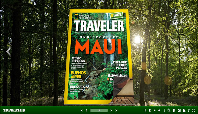 Windows 7 Forest Theme for 3D PageFlip Templates 1.0 full