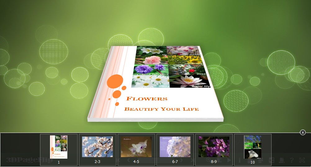 3D PageFlip Free Simple Color Templates 1.0 full