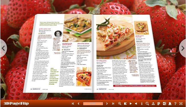 Strawberry Templates for 3D Flip Book full screenshot
