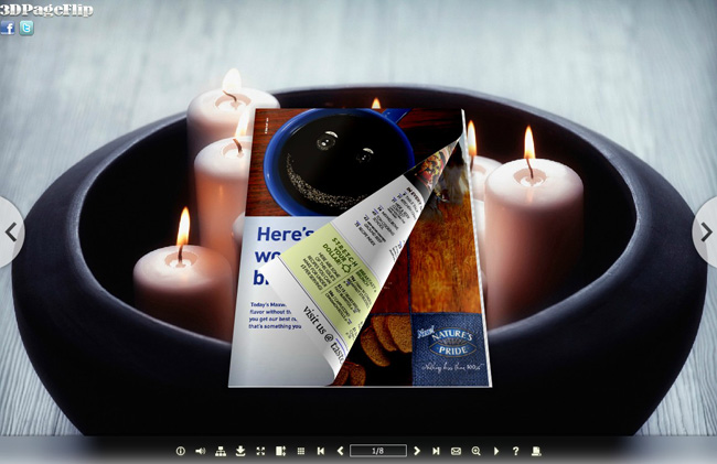 Candle Light Style Theme for 3D Book full screenshot