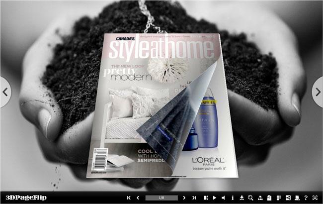 Monochrome Style Theme for 3D Book full screenshot