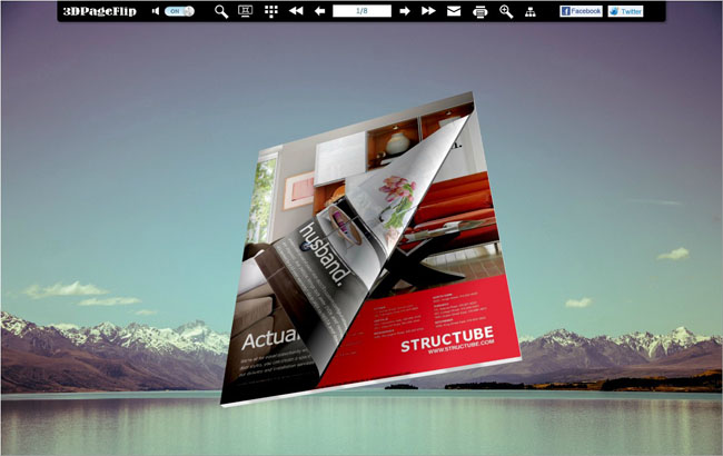 Natural Scenery Style Theme for 3D Page Turning Book