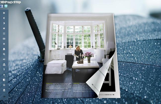 Rain Style Theme for 3D Book 1.0 full