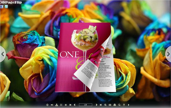 3D page flip book