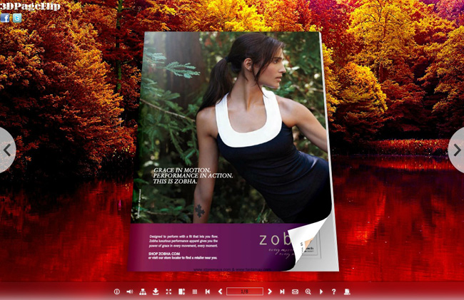 Red Tree Style Theme for 3D Book 1.0 full