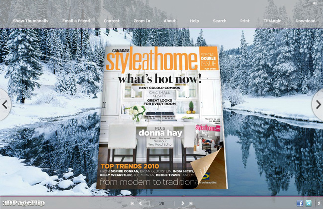 Snow Forest Style Theme for 3D Book full screenshot