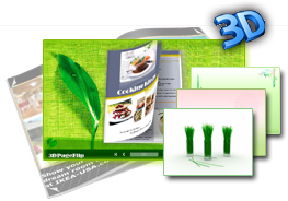 3DPageFlip Flash Catalog Templates for Green 1.0