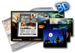 3DPageFlip Flash Catalog Templates for Halloween 1.0