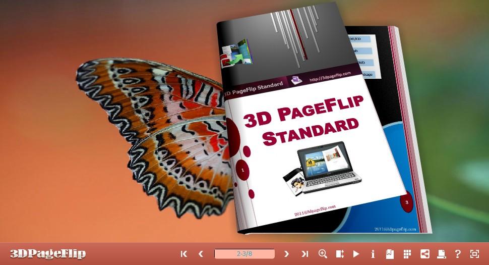 Windows 7 3DPageFlip Free Butterfly Templates 1.0 full