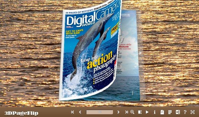 Windows 7 3DPageFlip Flash Catalog Templates for Sea Water 1.0 full